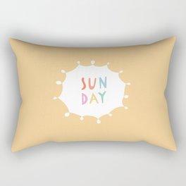 Sunday in Yellow Rectangular Pillow
