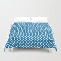 polka dots Duvet Covers featuring Polka Dots by KarenHarveyCox