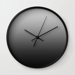 Gray to Black Horizontal Linear Gradient Wall Clock