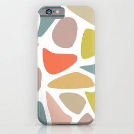 Pastel Blobs on White iPhone Case