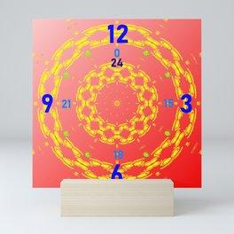 Clock-face-pattern Mini Art Print