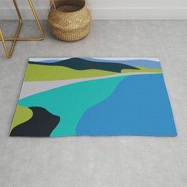 Blue Green Beach Rug