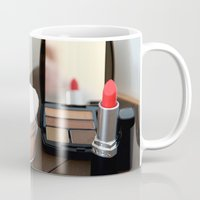 lipstick Mugs featuring Lipstick by Tanya Thomas