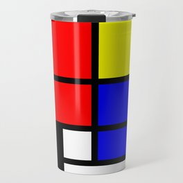 Mondrianista Travel Mug