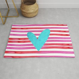 Soulmates Lines and Hearts Rug