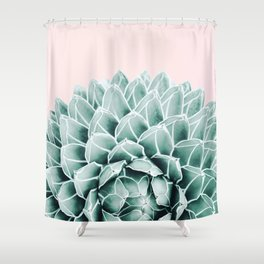 Succulent splendour - blush Shower Curtain