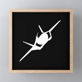 F-35 Lightning II Military Fighter Jet Aircraft  Framed Mini Art Print