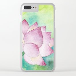Lotus Bloom Clear iPhone Case