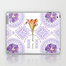 Gothic Revival Daylily Lace Laptop & iPad Skin