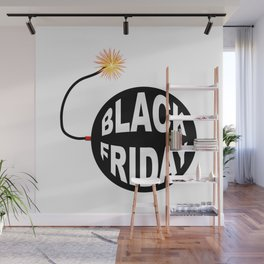 Black Friday Bomb And Lit Fuse Wall Mural