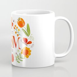 Mother's Day Watercolor Flowers and Butterflies Coffee Mug