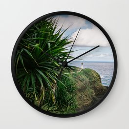 Kilauea Lighthouse Kauai Hawaii | Tropical Beach Nature Ocean Coastal Travel Photography Print Wall Clock