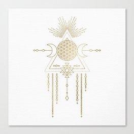 Golden Goddess Mandala Canvas Print
