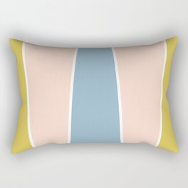 Retro Spring Color Block Rectangular Pillow