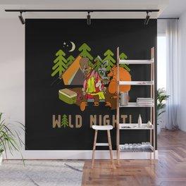 Camping Wild Night Wall Mural
