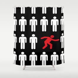 be different, be yourself Shower Curtain
