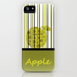 Apple And Stripes iPhone Case