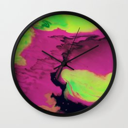 Cosmic Clouds Wall Clock