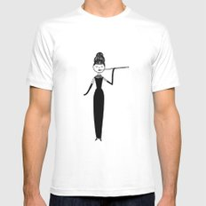 Eloise as Audrey Hepburn in Breakfast at Tiffany's Mens Fitted Tee SMALL White