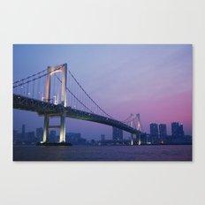 Tokyo Rainbow Bridge Canvas Print