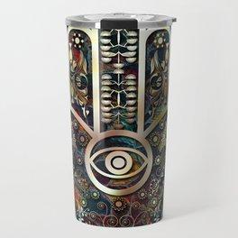 Hamsa Mosaic Travel Mug