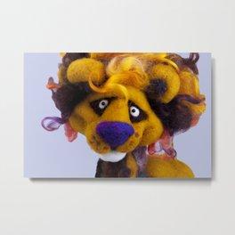 Lionel the Lion Metal Print