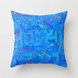 mostly blue money Throw Pillow