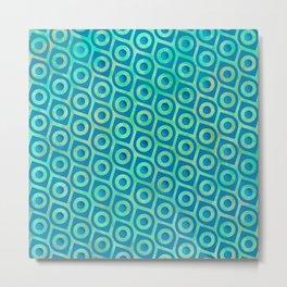 turquoise Pattern Metal Print