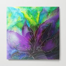 Purple Leaf Metal Print