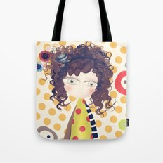 Yashica Abstract Circles Paris Portrait Tote Bag