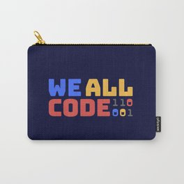 We All Code - Dark Carry-All Pouch