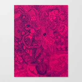 The Underbrush Pink and Blue Canvas Print