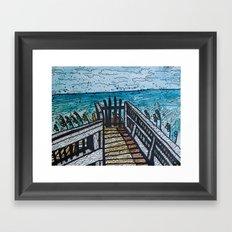 gate at fort fisher Framed Art Print