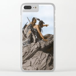 Watching The Herd - American Indians Clear iPhone Case