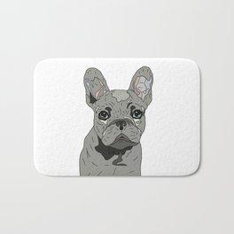 Frenchie Bulldog Puppy Bath Mat