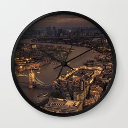 Thames Meander Cityscape Wall Clock
