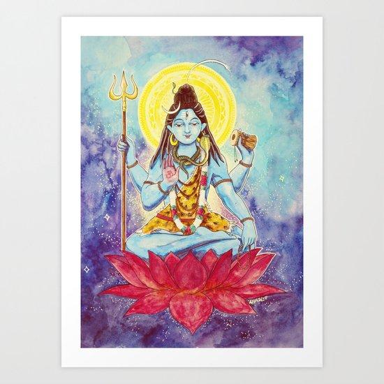 Destruction, Shiva Art Print