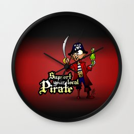 Support your local Pirate Wall Clock