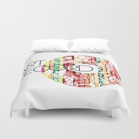 record Duvet Covers featuring Art Record by kartalpaf