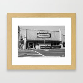 Boudreaux's Louisiana Kitchen B&W Framed Art Print