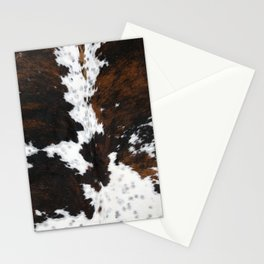 Brown Cowhide, Farmhouse decor Stationery Cards
