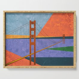 Golden Gate Bridge II Serving Tray