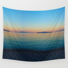 Sunset Greek Island Wall Tapestry