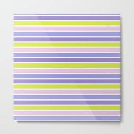 Trendy violet pink yellow modern stripes pattern Metal Print
