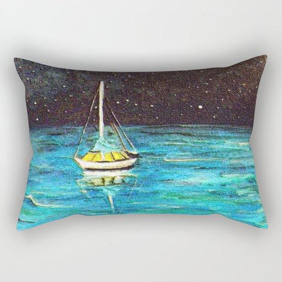 Sailboat Under The Stars Rectangular Pillow