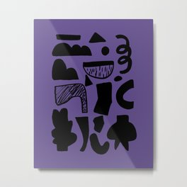 abstract figures on ultra violet background Metal Print