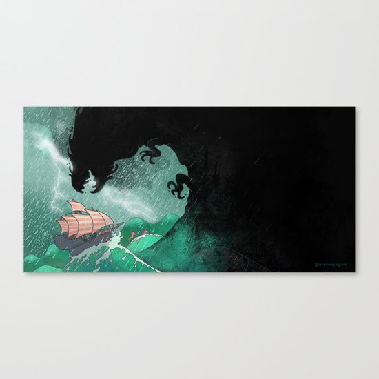 01: The Monster attacks Canvas Print