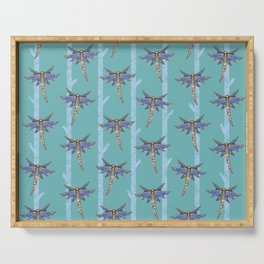 Dragonflies with Trees Pattern 2 Serving Tray