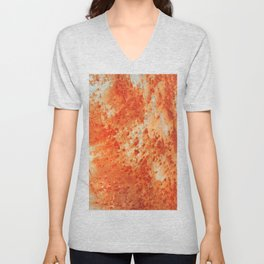 Red Rust Textures 4 Unisex V-Neck