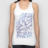 crystals Tank Tops featuring Crystals by fossilized